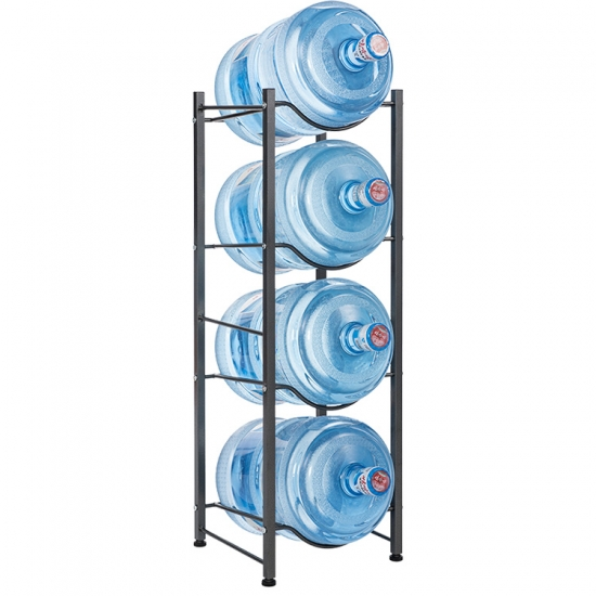 4 tier stackable metal water rack