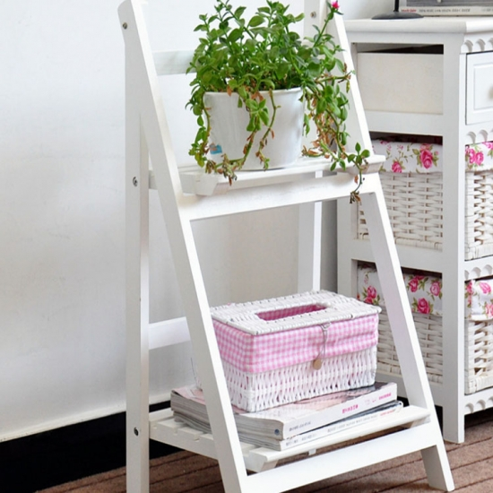 Wooden garden shelf rackMST