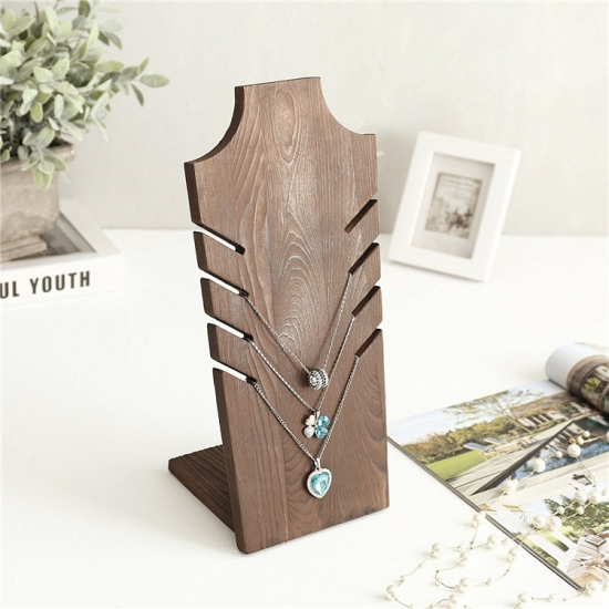 wooden jewelry display standMST