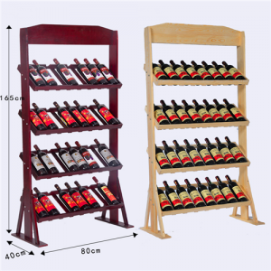 Rotwein-Display